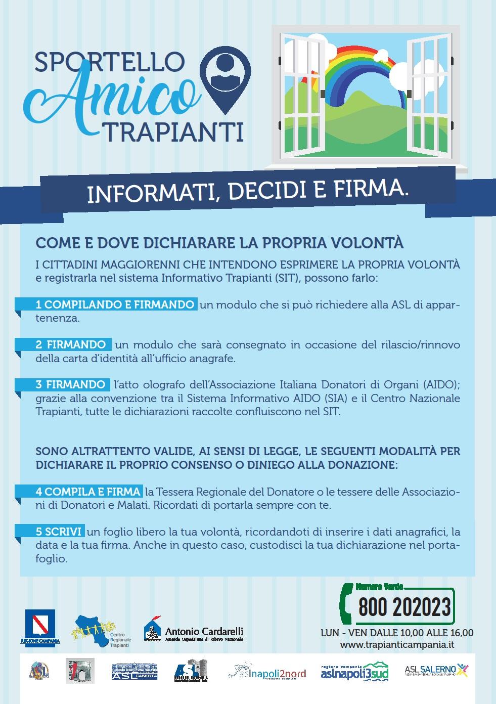 Sportello Amico Trapianti 01/07/2017