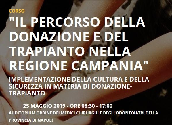 Il percorso della donazione e del trapianto nella Regione Campania