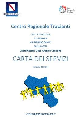 Carta Servizi CARTA DEI SERVIZI CENTRO TRAPIANTI CAMPANIA