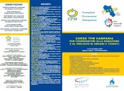 CORSO TPM CAMPANIA PER COORDINATORI ALLA DONAZIONE E AL PRELIEVO DI ORGANI E TESSUTI 12-14-NOVEMBRE