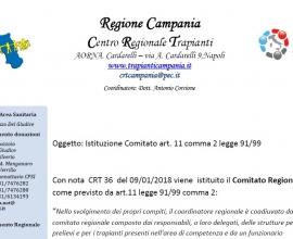 Istituzione Comitato Regionale