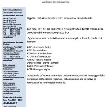Istituzione Tavolo Tecnico associazione volontariato