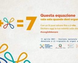 11 Aprile 2021 – Giornata Nazionale per la donazione e il trapianto di organi