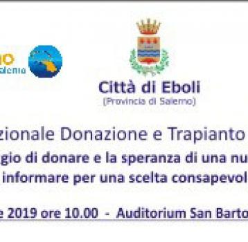 XXII Giornata Nazionale Donazione e Trapianto di Organi e Tessuti